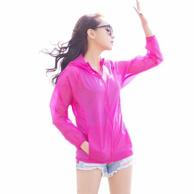 821e8c5084e 2017 Brand Summer Lady Sun Protection Jacket Women Beach Breathable  Sunscreen Ultra Thin Hooded Shirts Women Clothes Transparent