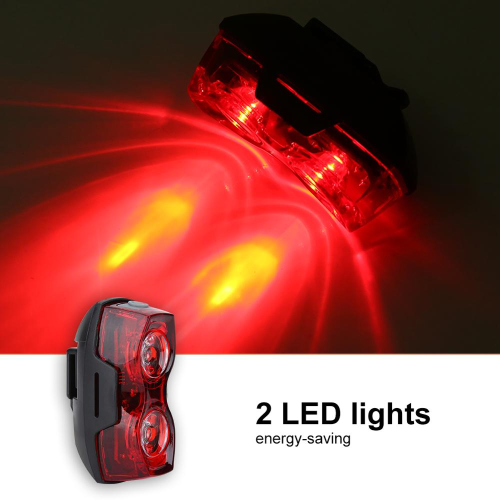 Safety Cycling Light Warning Headlight Led Bicycle Taillight 1000m Saddle Lamp Red Light NIght Outdoor Riding Accessory