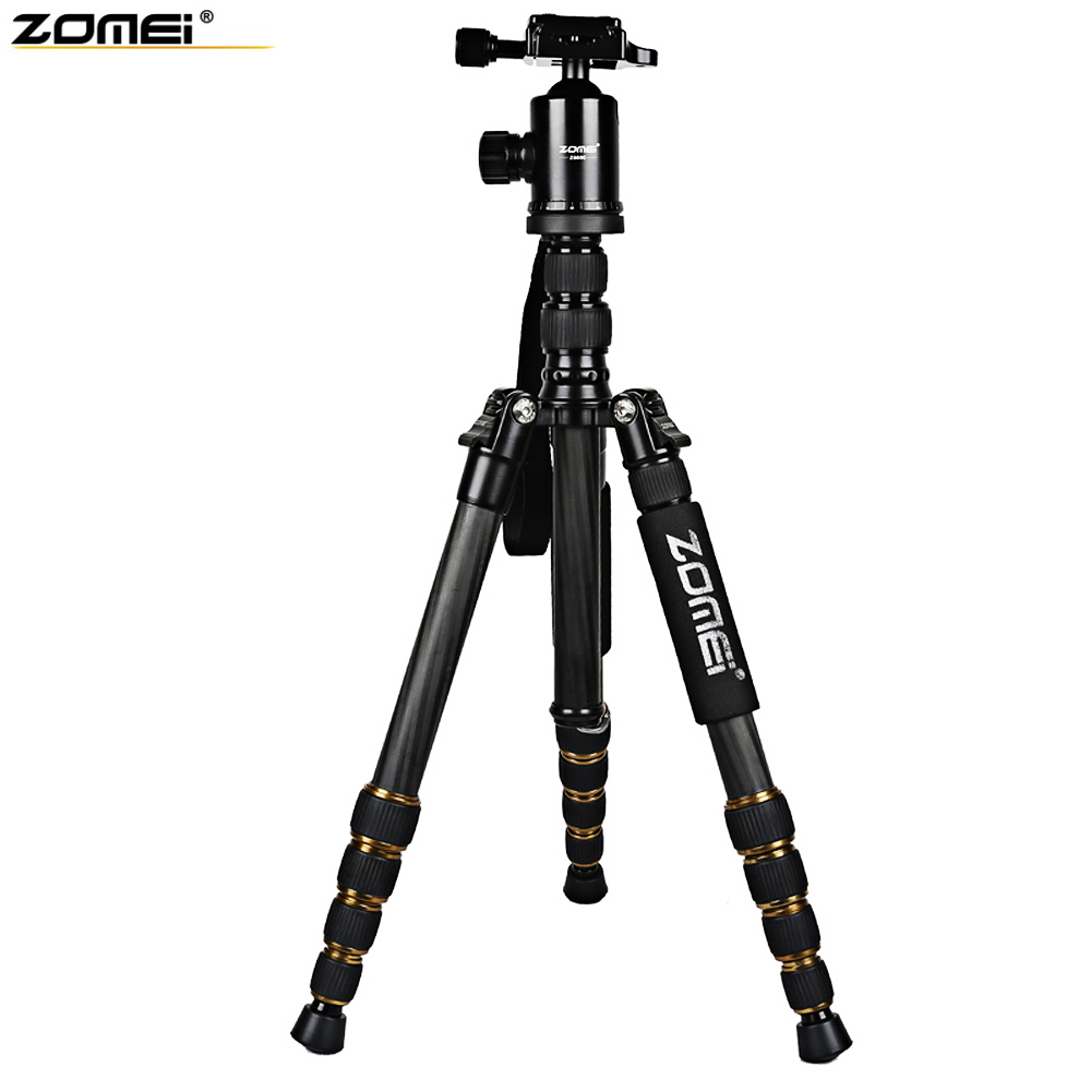 Zomei Z699C Professional Camera Tripod Stand Holder Video Carbon Fiber Tripod For Camera Accessories 59.4 Inches Lightweight цены