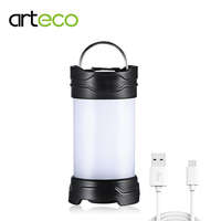 USB Rechargeable Camping Light 350LM Portable Lantern LED Lamp Waterproof For Outdoor Fishing Working Flashlight With