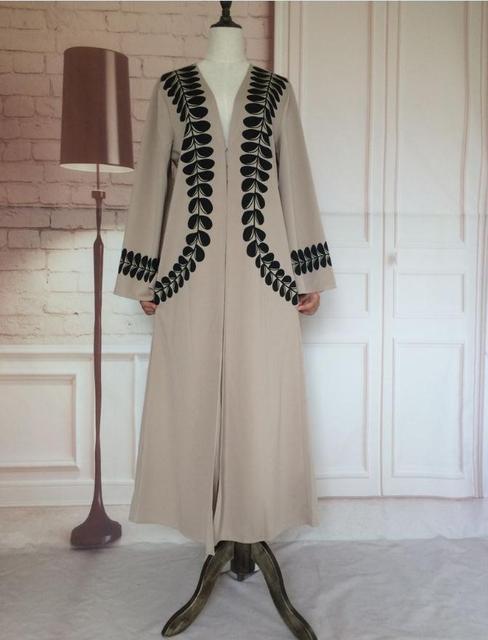 New Adult Casual lace cotton Robe Musulmane Turkish Printed Abaya  Muslim Dress Cardigan Robes Arab Worship Service