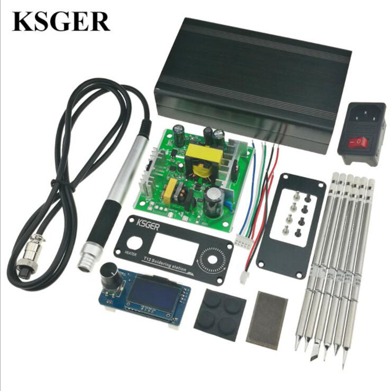 все цены на Welding Tools STM32 V2.1S OLED Soldering Iron Station T12 Tips Alloy Handle Controller Welding Tools Sunction Tin Pump Electric