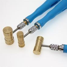 Инструмент для ремонта мини-часов с круглой головкой, медный молоток, ремешок для часов, отбойный молоток для ремонта часов(случайный цвет и стиль