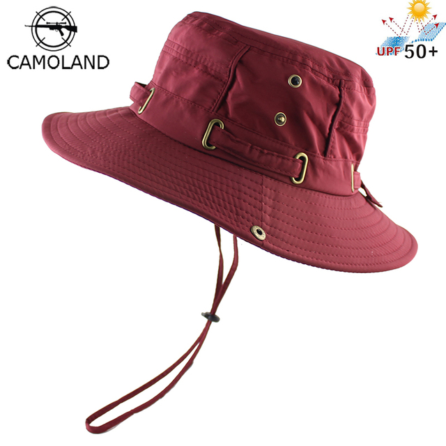94be1d3f638 Light Sun Hat for Women Men Bucket Summer Fishing Boonie UV Protection Bob Solid  Color Outdoor Beach Cap Packable Mesh Quick Dry
