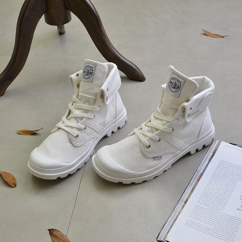 Canvas Shoes Men Boots Leisure High Top Ankle Boots Male Flat Man Footwear Military Shoes Men Casual Spring Autumn Dropshipping