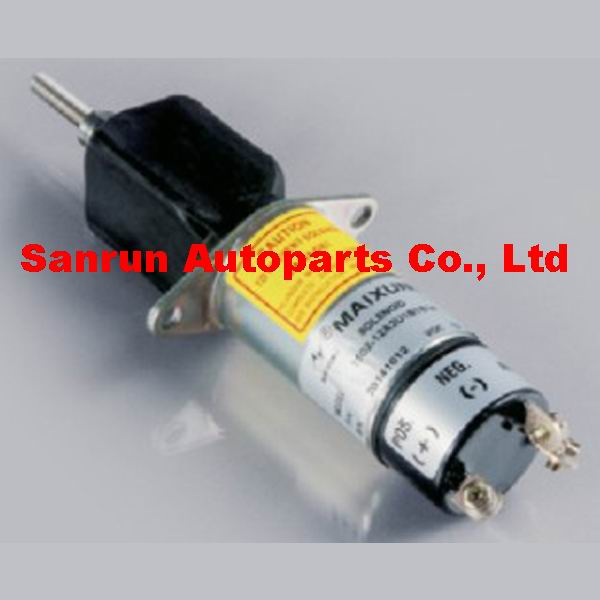 Free shipping fuel Shutoff solenoid 1502-24A2U1B1S1A SOLENOID 24V stop solenoid valve free shipping 366 07198 1502 24c7u2b2s1 1502 24v 2 terminals for lister petter diesel stop solenoid