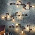 5 Luzes de Parede de tubulação de Água lâmpada de parede Industrial Retro Punk Do Vapor Do Vintage Arandelas Luminárias Luminária Edison Lâmpada De Parede Bar