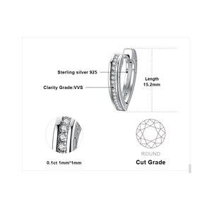 Image 5 - Bijoux palace vous aime CZ boucles doreilles cerceau canal ensemble 925 boucles doreilles en argent Sterling pour les femmes boucles doreilles coréennes bijoux de mode 2020