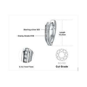 Image 5 - JewelryPalace aşk CZ Hoop küpe kanal seti kadınlar için 925 ayar gümüş küpe kore küpe moda takı 2020