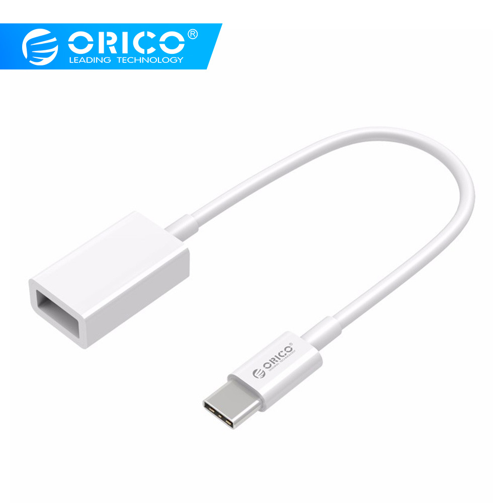 ORICO Type-C C To A OTG Data USB2.0 Charging Cable MacBook Extended U Disk Mouse -White