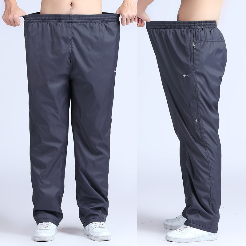 Grandwish Quick Dry Mens Active Pants Plus Storlek 6XL Lös Fit Long Pants Män Elastic Midja Outside Mens Exercise Pants, PA215