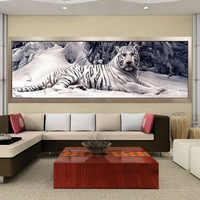 Diamond Embroidery 5D Diy Diamond Painting Cross Stitch White Tiger Round Diamond Mosaic Animals Home Paintings hobbies crafts