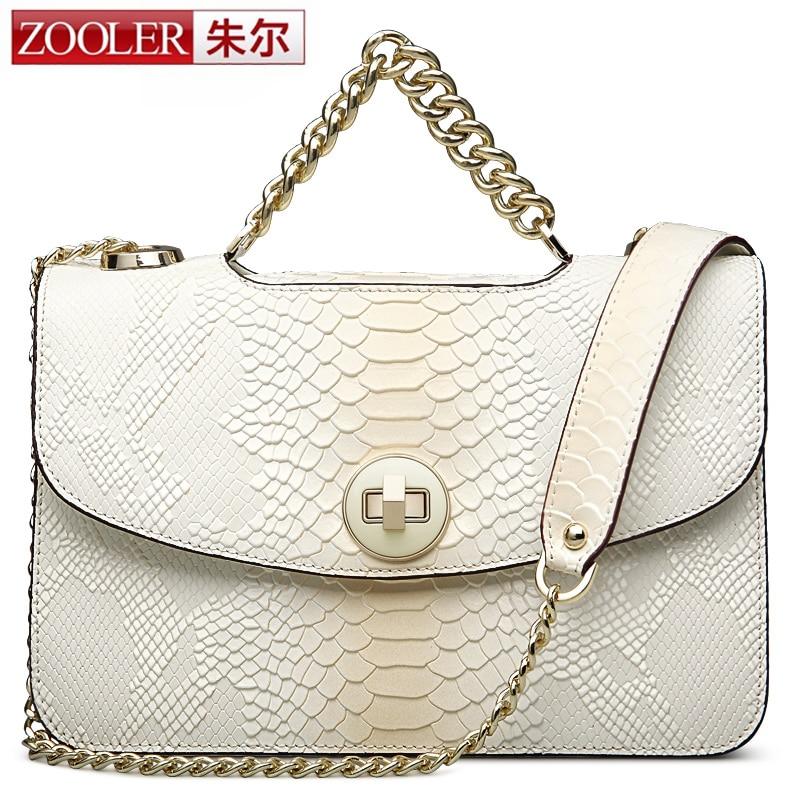 0 profit ZOOLER women leather bag shoulder messenger bags chains handle superior cowhide leather quality bag