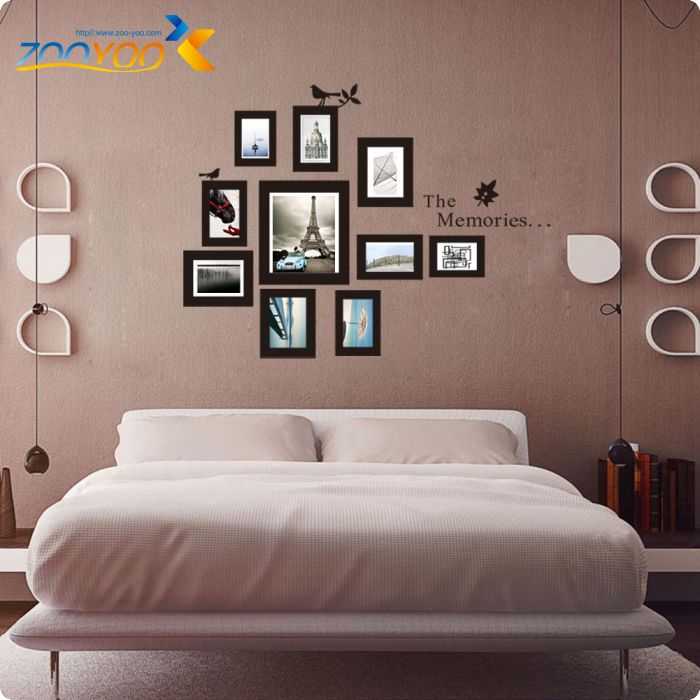 Online Shop Photo Frame Wall Decals 2017 New Design Removable Xl Memories  Photo Frame Vinyl Wall Stickers Home Decor 8202. Wall Art Decals |  Aliexpress ... Part 73