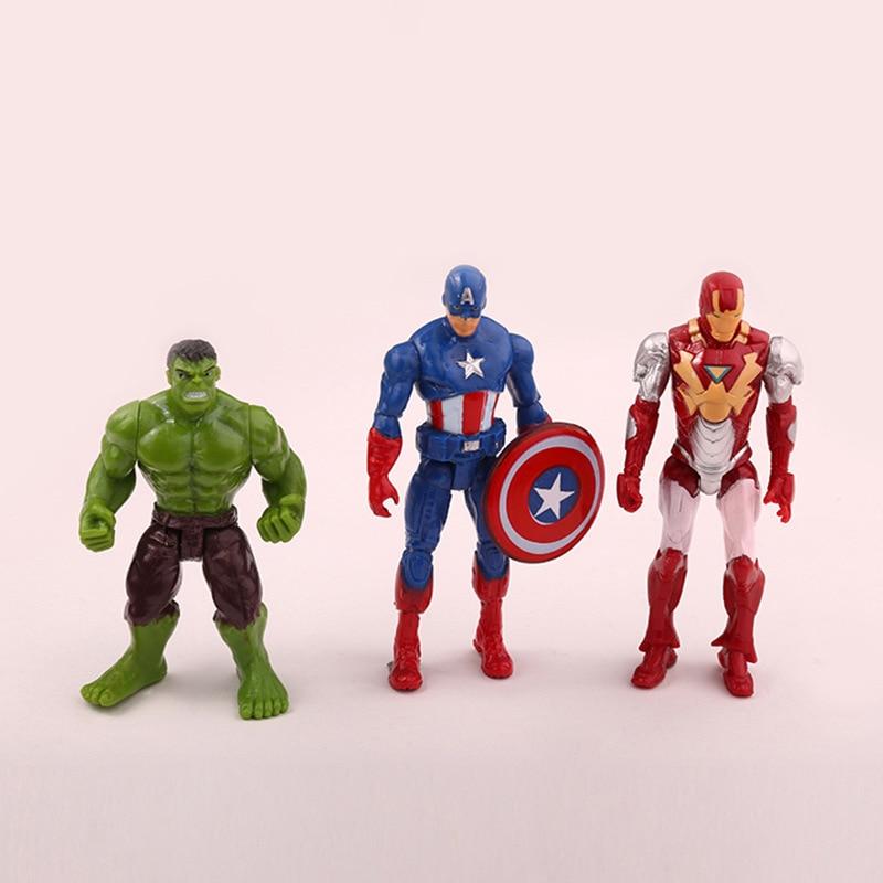 6pieces Super Hero Toy Doll Baby The Avengers Figures Hulk Capitán - Figuritas de juguete - foto 2