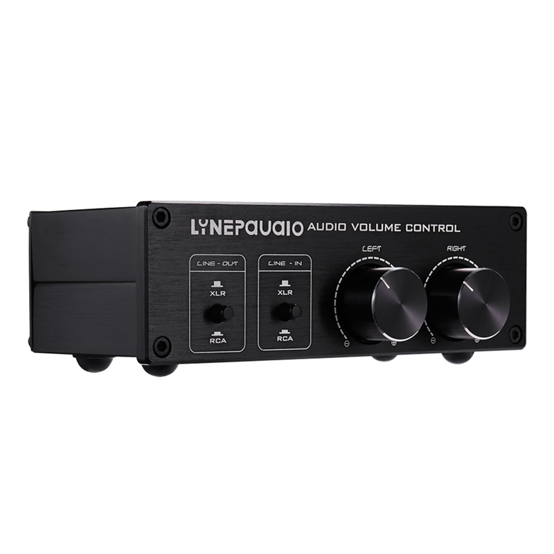 Lynepauaio 2 In And 2 Out Switcher Volume Controller, Rca Signal Switches To Xlr Balanced Signal, Provides Rca And Xlr Interfa