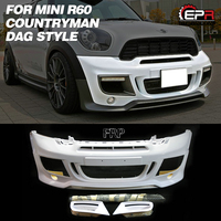 FRP Front Bumper For Mini R60 Countryman DAG Glass Fiber Front Bumper (Included round fog & DRL) Body Kit Tirm For R60 Racing