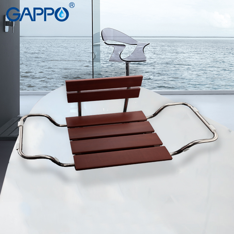 Gappo Wall Mounted Shower Seats bathroom stool chair bathroom shower chair childern bath shower seat bench gappo wall mounted shower seats wall mounted bathroom chair folding bath seat wood and aluminium alloy bench shower chairs