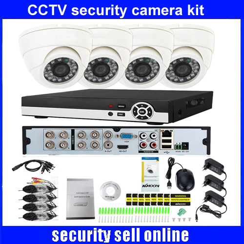 720P HD indoor IR Home Security Camera System 4CH 720P HDMI AHD DVR CCTV Video Surveillance Kit AHD Camera Set DHL freeship boxpop lb 081 35