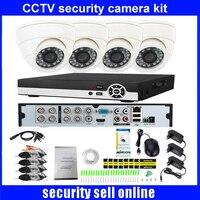 720P HD indoor IR Home Security Camera System 4CH 720P HDMI AHD DVR CCTV Video Surveillance Kit AHD Camera Set DHL freeship