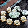 Прямо с фабрики Японский керамический чайный набор кунг-фу высококачественный ручной работы чайная церемония обслуживание гостинной посу...