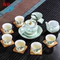 Factory Direct Japanese Ceramic Kung Fu Tea Set High Grade Handmade Tea Ceremony Living Room Service Guests Drinkware Tea Set