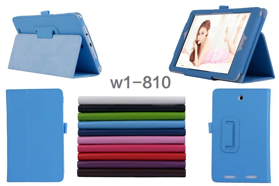 Ultra Slim Litchi Grain 2-Fold Folio Stand PU Leather Protector Skin Cover Case For Acer Iconia Tab 8 W1 810 W1-810 Tablet mediapad m3 lite 8 0 skin ultra slim cartoon stand pu leather case cover for huawei mediapad m3 lite 8 0 cpn w09 cpn al00 8
