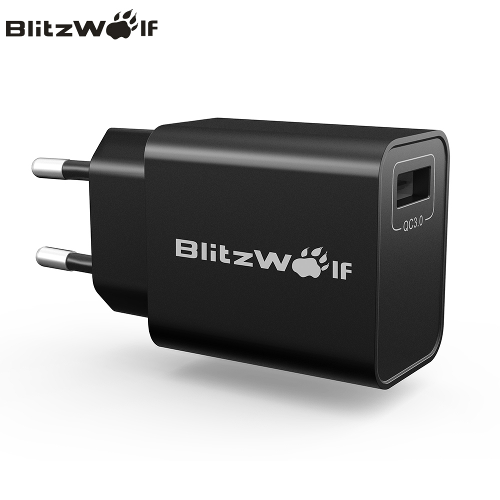 BlitzWolf QC3.0 USB Charger Universal Adapter Travel Wall Charger Mobile Phone Charger For iPhone 7 6s 6 For Samsung Smartphone electronics