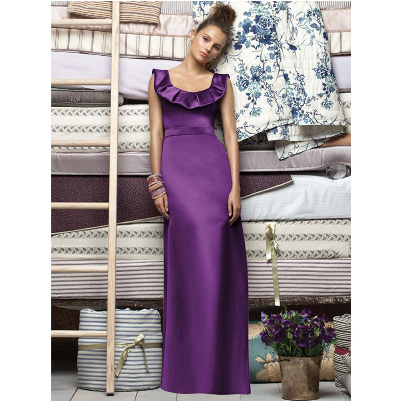 Satin Purple Bridesmaid Dresses In China Cheap Long Bridesmaid Gowns ...