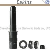 10X ~ 300X регулируемое увеличение 25 мм зум C mount объектив + 0.5X/2.0X/0.35X Барлоу Вспомогательный объектив + 2.5X линза для окуляра микроскопа