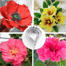 3pc/set Gumpaste Hibiscus Petal Flower Cookie Cutter Fondant Sugarcraft Mold Stainless Steel Cake Decorating Moulds Biscuit Tool