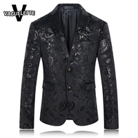 Mens Blazers New Arrivals 2016 Skinny Suit Jacket Men Stage Clothes For Singer Slim Fit Vintage