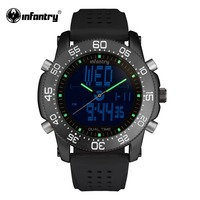 INFANTRY Mens Wristwatch Dual Movement Military Watches Luxury Brand Tactical Watches Male Clock Waterproof Relogio Masculino