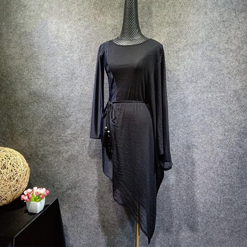 2019 nouvelle robe de danse latine Salsa pour une femme Sexy irrégulière femme adulte salle de bal Cha Cha Salsa danse pratique robes DL3335