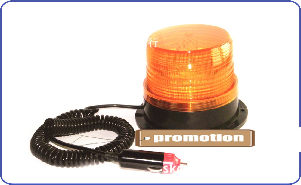 High power DC12V Car Magnetic Warning flash beacon Strobe Emergency light Amber