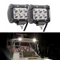 2x 12V 18W Spot LED Marine Spreader Light Yacht Marine Boat Stair Deck Mast Lamp Trailer Interior & Exterior Lighting