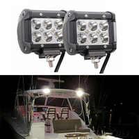 2x12 V 18W punto LED esprender luz barco marino cubierta de escalera mástil lámpara remolque iluminación Interior y Exterior