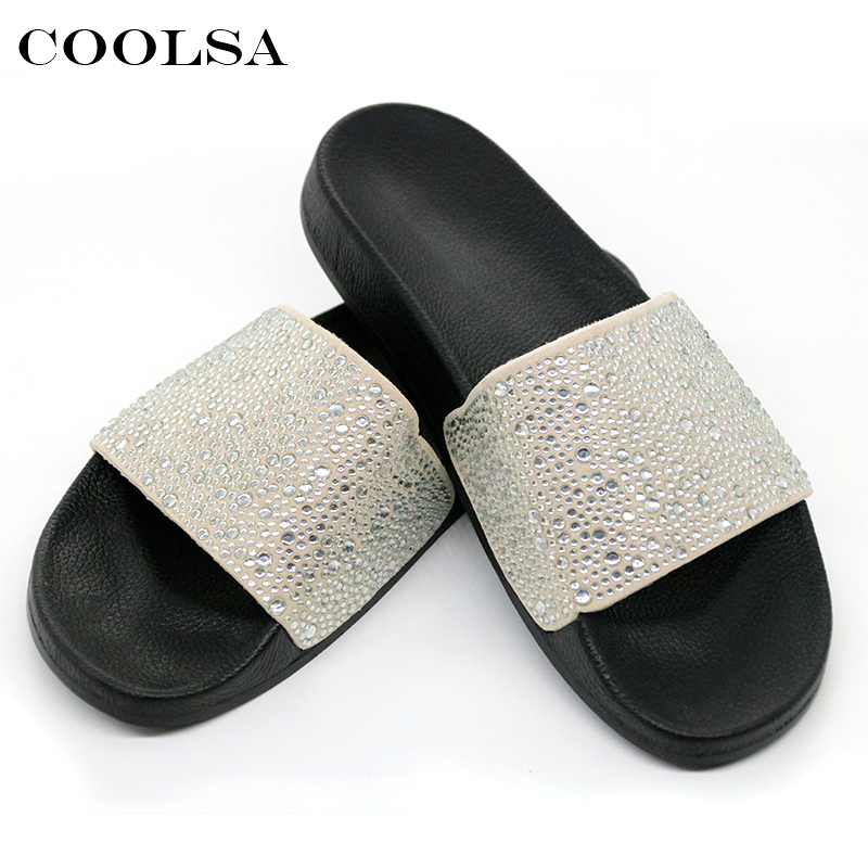 e514df659 ... Bling Slides Flat Soft Home Flip Flops Female Sparkling Crystal Shoes  Beach Sandals HTB1EKohm46I8KJjSszfq6yZVXXa9. slipper 80-16 slipper 80-1  slipper ...