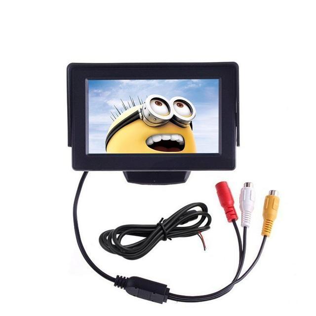 4.3 ''TFT Carro Monitor de TV Suporte Resolução 480x272 Sistema de Monitor de visão Traseira Do Carro Espelho para Carros