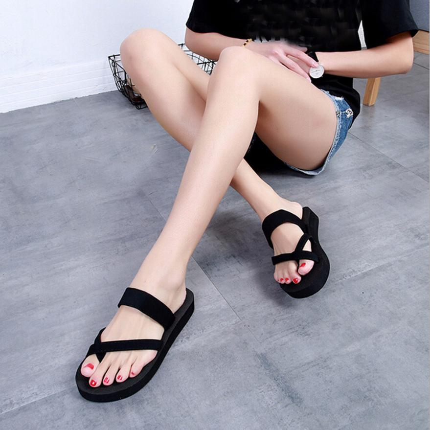 SAGACE Shoes Flip flops Womens Summer Flip Flops Casual Slippers Flat Sandals Beach Open Toe casual shoes women 2018MA27 toe post striped flip flops