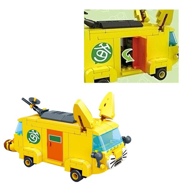 Children Hobby Toys Televsion Reporting Van Model Building Blocks Toys For Girls or Boys