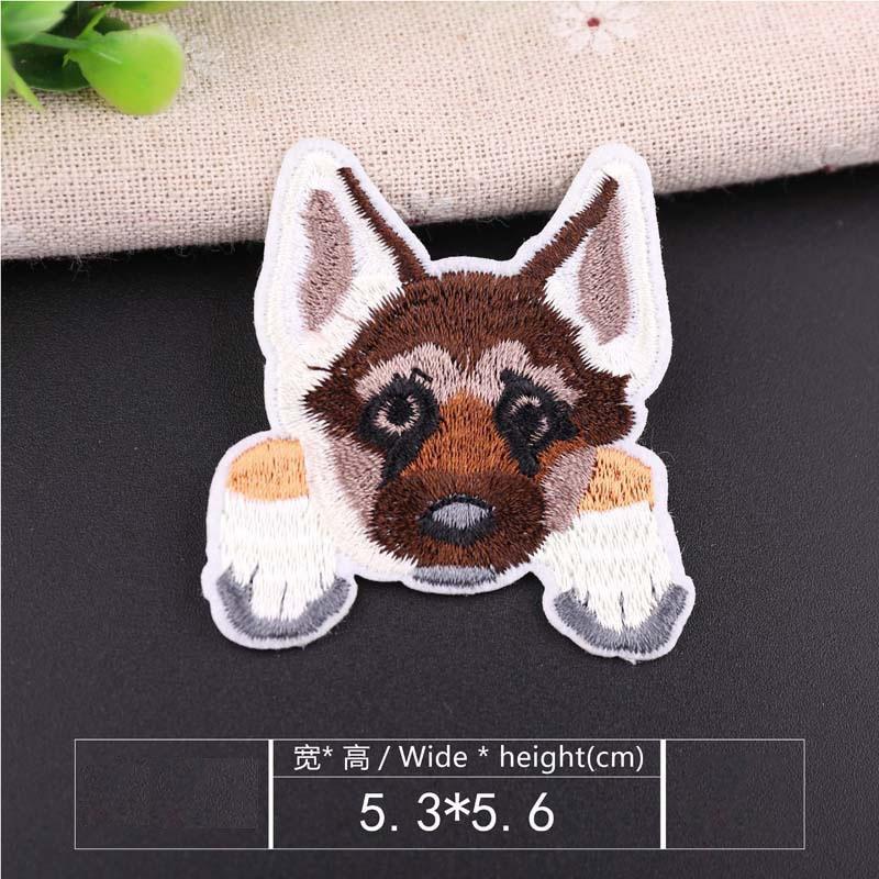 1 шт., нашивка для вышивания собаки, термопередача, гладить на вышивать на пачках для одежды DIY, футболка, тканевая наклейка, декоративные аппликации 47267 - Цвет: Y