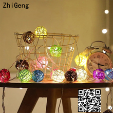 ZhiGeng 3M Star Copper Wire Led Cane Ball String Lights Holiday Lighting Christmas Decoration Small Light Flashing Lights