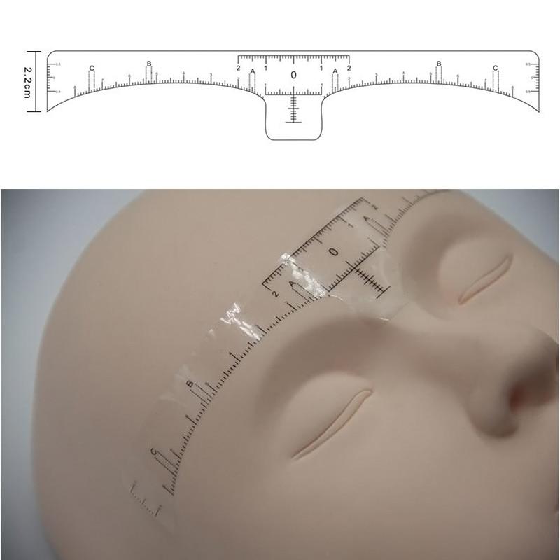 2017 100 قطعه دقیق آرایش دائمی ابرو شکل دهنده ابرو ابزار اندازه گیری ابرو یکبار مصرف