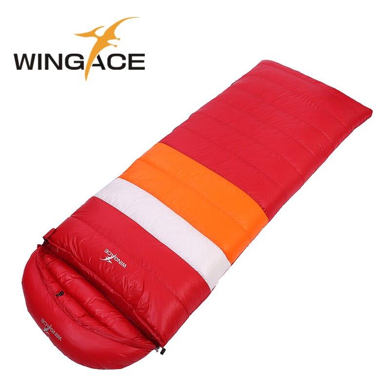 Llenar 3000G Envelope saco de dormir adulto que acampa al aire libre pato invierno saco senderismo schlafsack