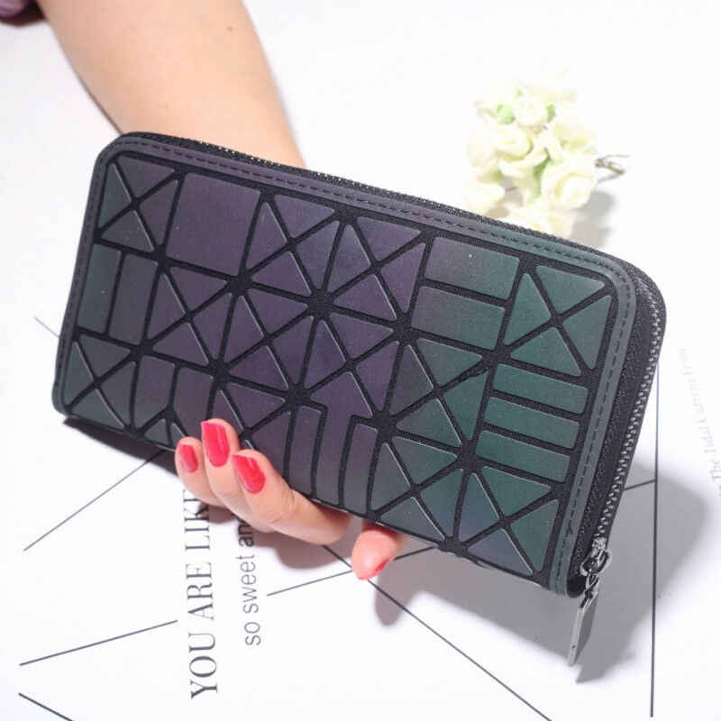 2019 new women's Money Clips PU leather fashion geometric pattern clutch bag credit card purse