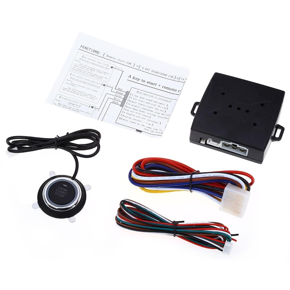 Free Shipping RFID Car Alarm Finger Push Starter Engine Start Stop Transponder Remote Start Button