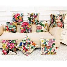 Decoración almohada algodón Lino decoración cuadrada para el hogar funda de almohada sofá cintura Cojine Housse de Coussin fundas de almohada funda de cojín