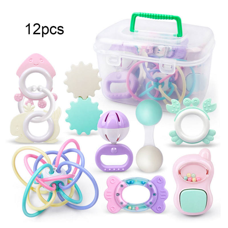 Baby Toys Baby 0-1 Years Old Rattle Newborn Children Boys and Girls Puzzle Can Bite Teeth Newborn Toys