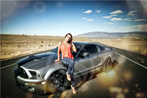 F 157 Custom Ford Mustang Hot Girl 2 Home Decor Fashion Modern For Bedroom